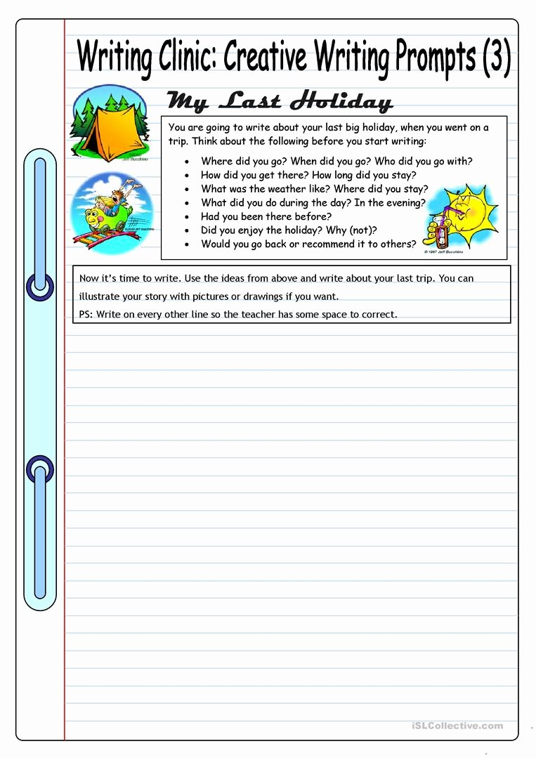 Esl Writing Prompts with Pictures Unique Writing Clinic Creative Writing Prompts 3 My Last
