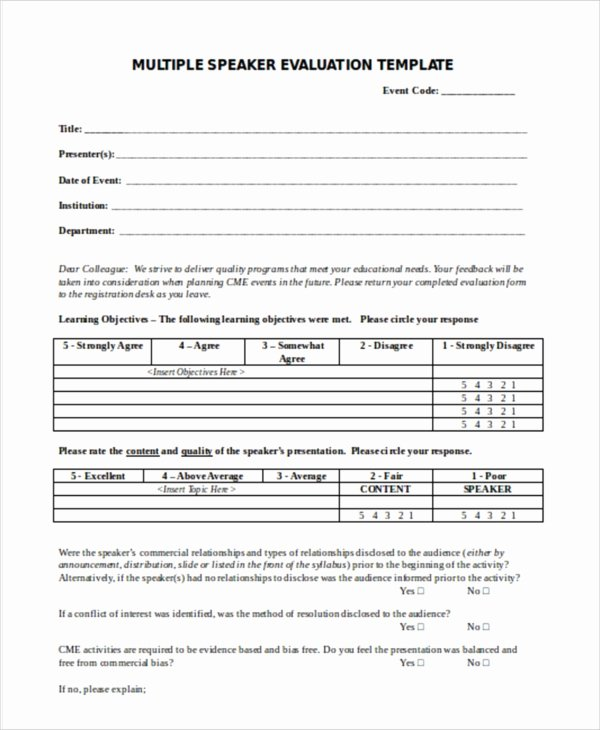 Event Feedback form Template Awesome 16 event Evaluation form In Doc