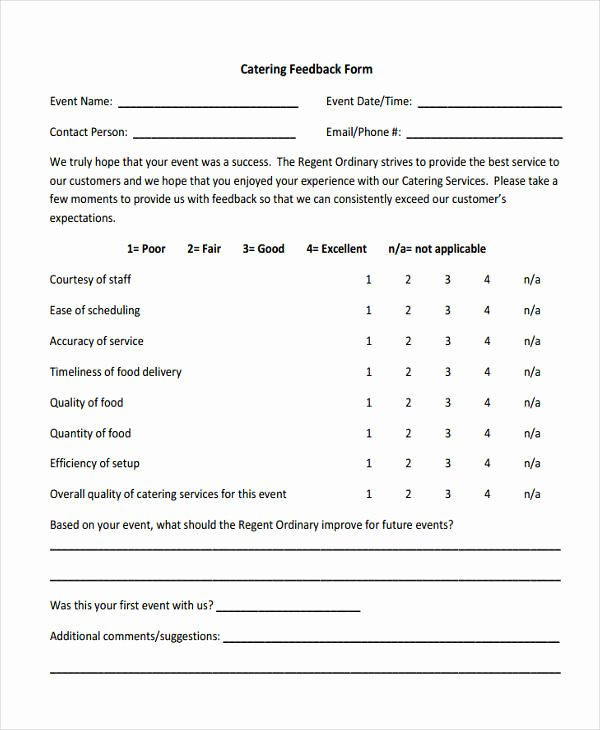 Event Feedback form Template Unique 12 Business Feedback form Templates