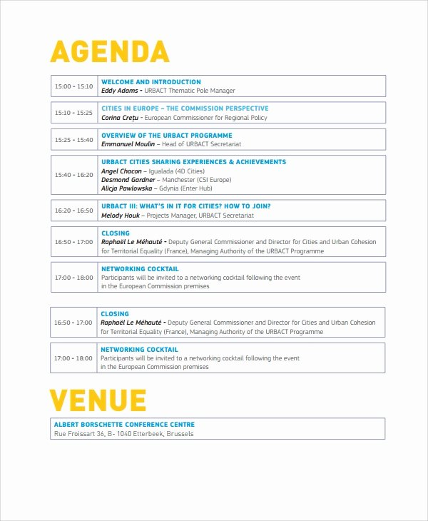 Event Itinerary Template Luxury 8 Sample event Agenda Templates