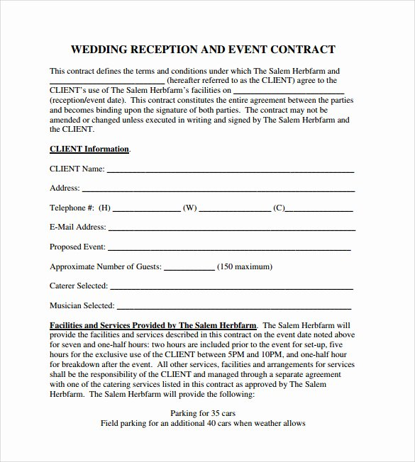 Event Planning Contract Template Free Beautiful event Contract Template 25 Download Documents In Pdf
