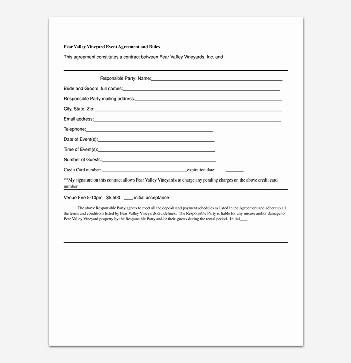 Event Planning Contract Template Free Unique event Contract Template 19 Samples Examples In Word