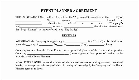 Event Planning Contract Template Free Unique event Contract Template 23 Word Excel Pdf Documents
