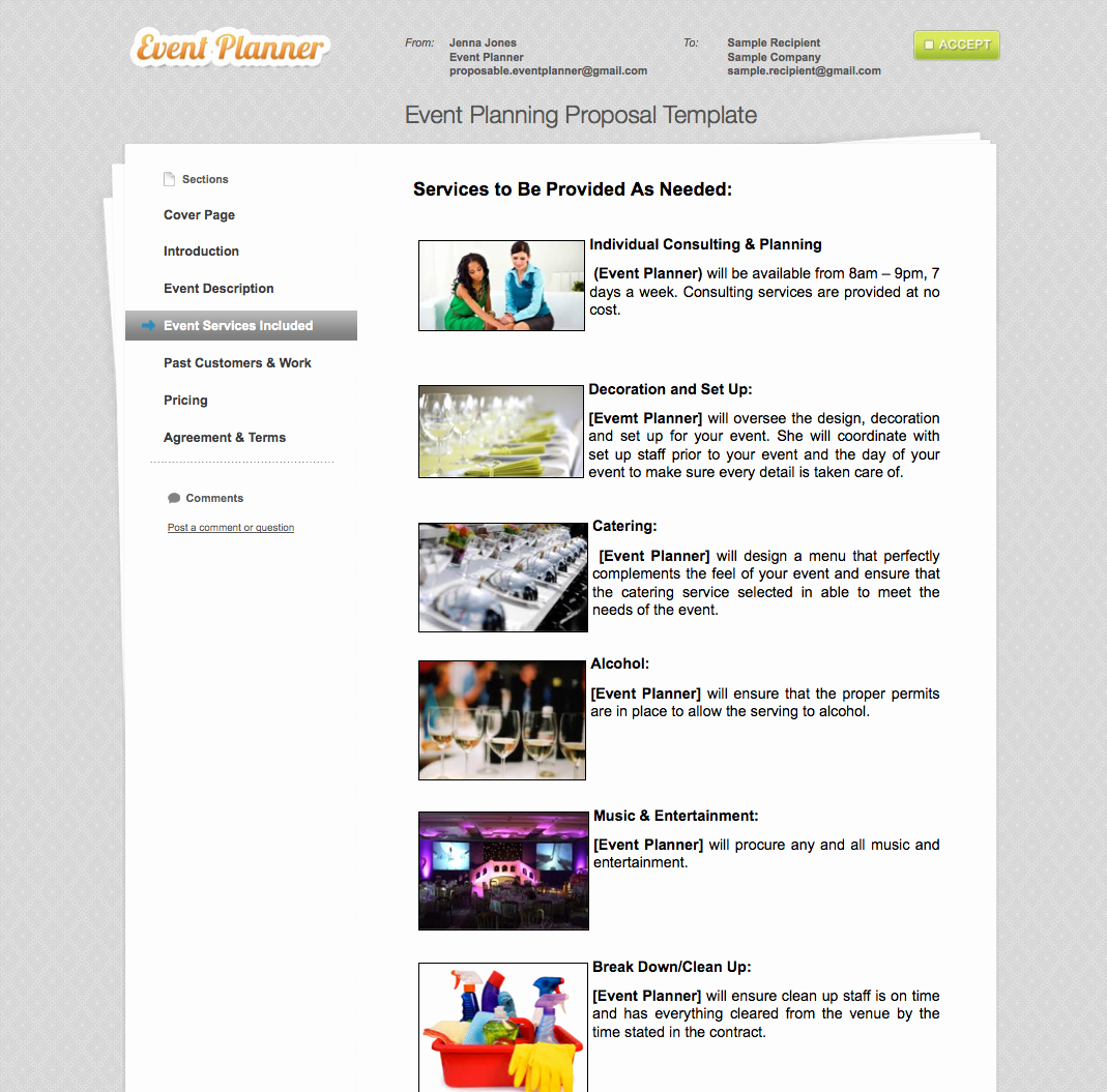 Event Planning Quote Template New Business Proposal Templates the Proposable Blogthe