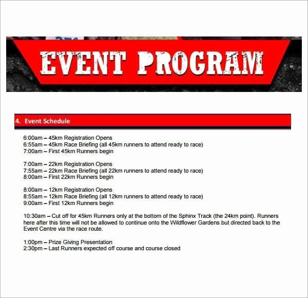 Event Program Template Word Awesome 10 event Program Templates Word Excel Pdf formats