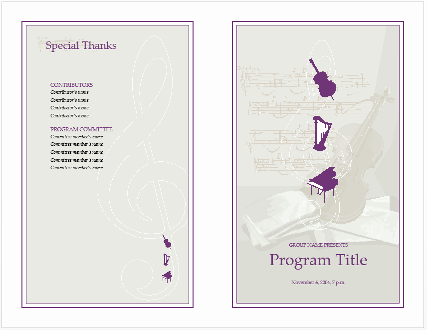Event Program Template Word Elegant 10 event Program Templates Word Excel Pdf formats