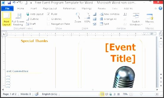Event Program Template Word New 10 Ms Word event Program Template Sampletemplatess