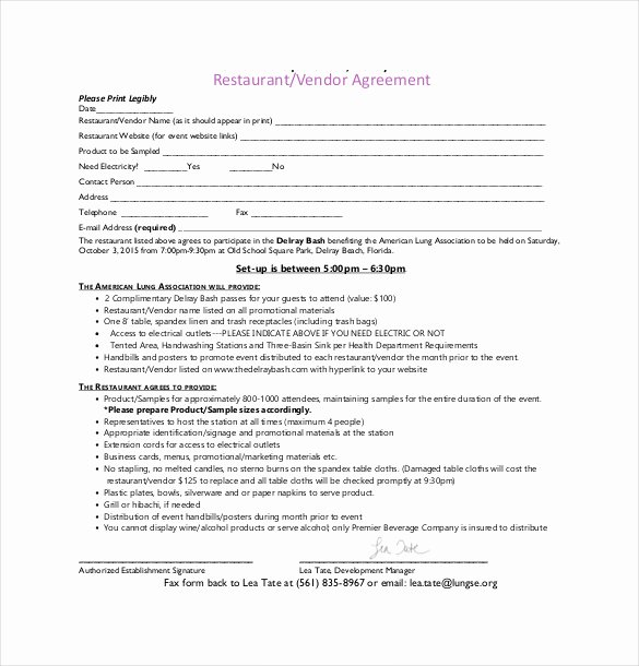 Event Vendor Contract Template Best Of 25 Sample Vendor Agreement Templates Pdf Doc