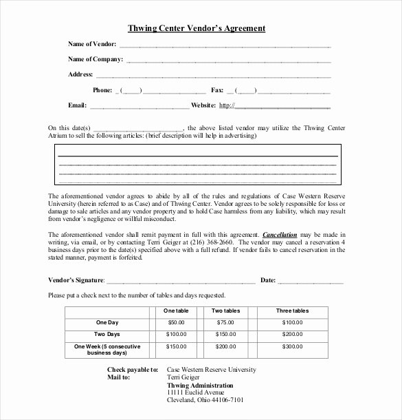 Event Vendor Contract Template Elegant 25 Sample Vendor Agreement Templates Pdf Doc