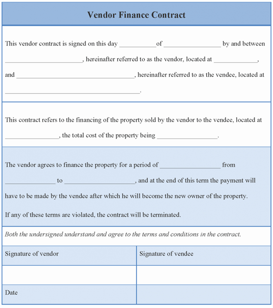 Event Vendor Contract Template New Sample Vendor Contract Agreement Contracts Simple form