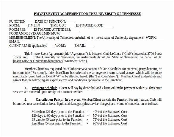 Event Vendor Contract Template Unique 18 Microsoft Word Contract Templates Free Download