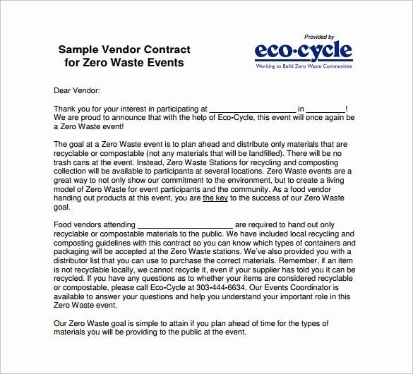 Event Vendor Contract Template Unique 8 Vendor Contract Templates to Download for Free