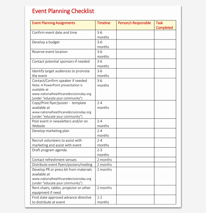 Event Venue Checklist Template Awesome event to Do List Template 40 Checklists In Word Excel