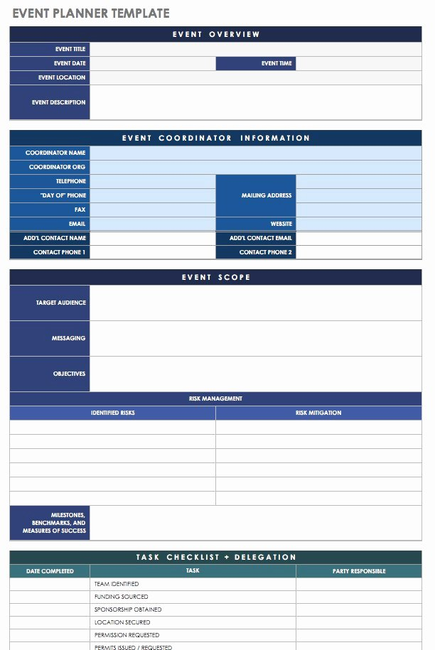 Event Venue Checklist Template Elegant 21 Free event Planning Templates