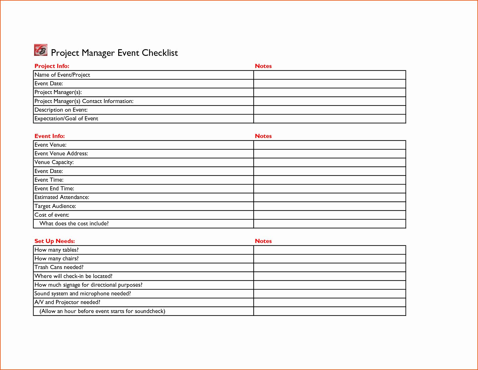 Event Venue Checklist Template Elegant 7 event Checklist Template Bookletemplate