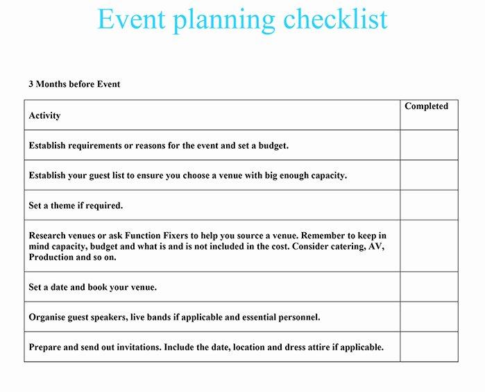 Event Venue Checklist Template Luxury event Planning Checklist