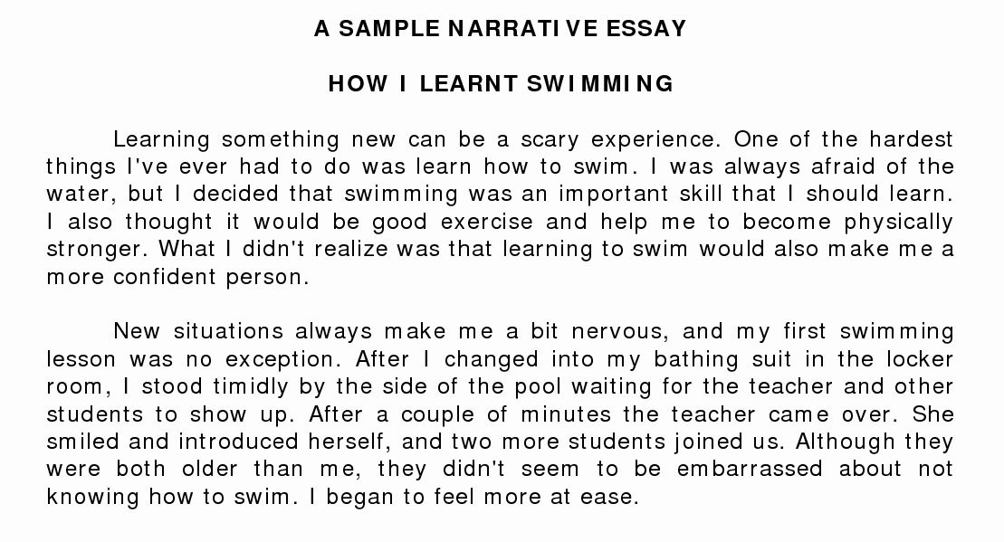 Example Illustration Essay On Parents Beautiful Narrative Essay Writing the Oscillation Band