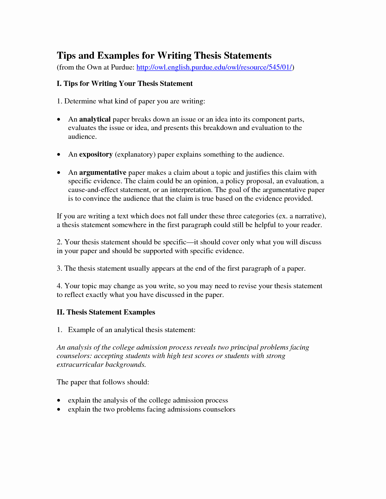 Example Illustration Essay On Parents New Examples Of thesis Statements
