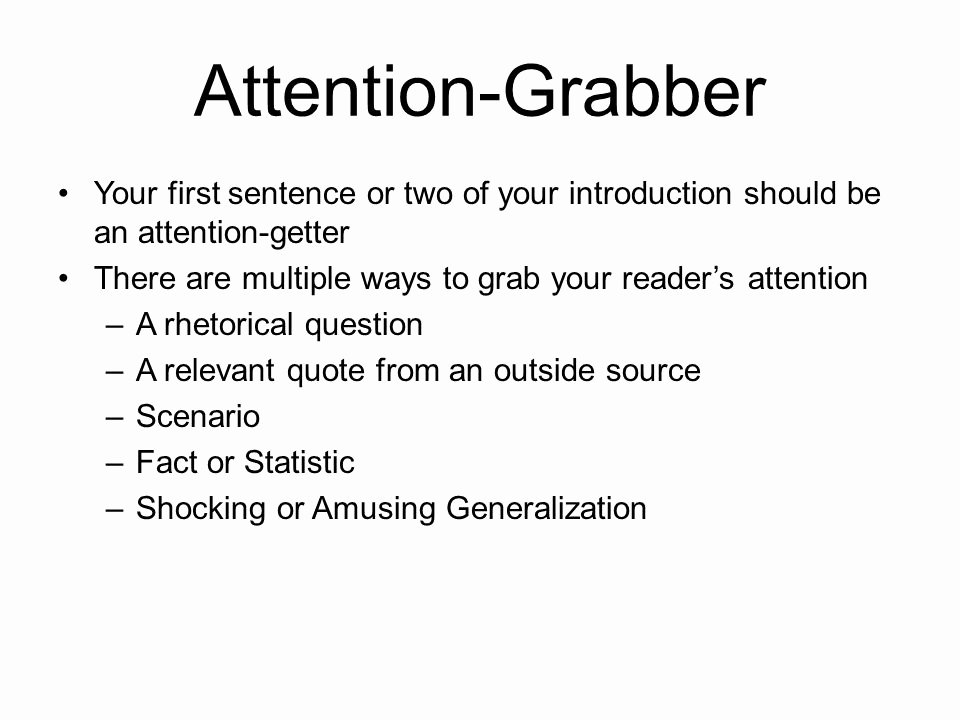 Example Of attention Getter Beautiful 18 attention Grabber Examples