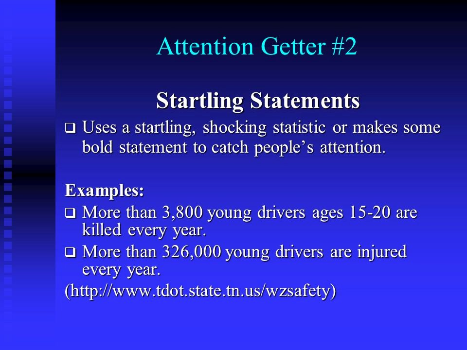 Example Of attention Getter Fresh Introduction attention Getters – Part 1 Body Conclusion
