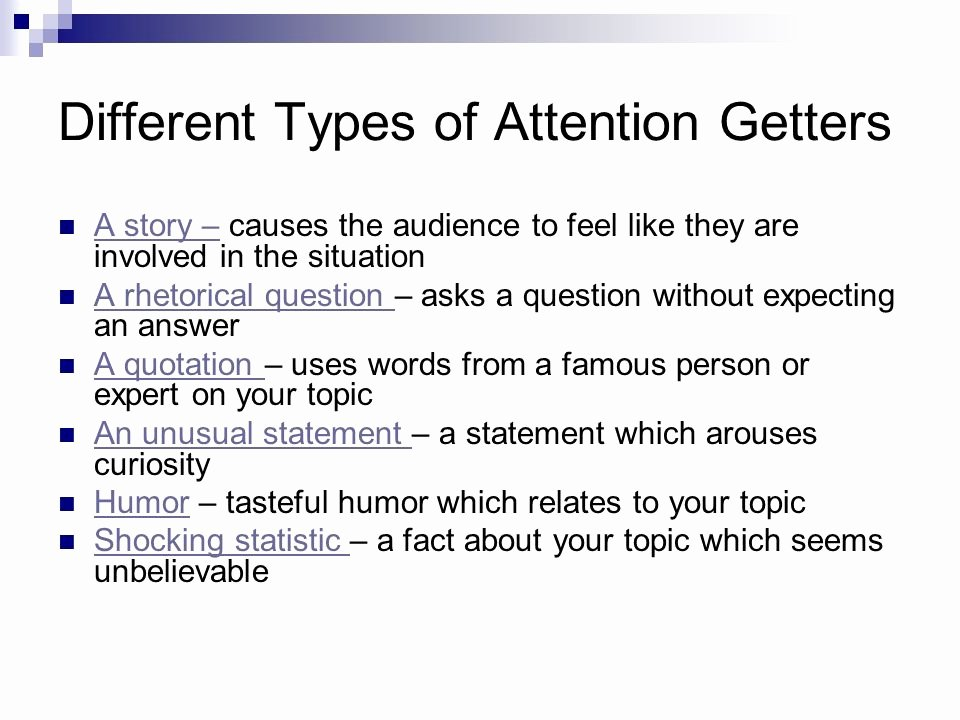 Example Of attention Getter Inspirational Elements Of An Essay Ppt Video Online