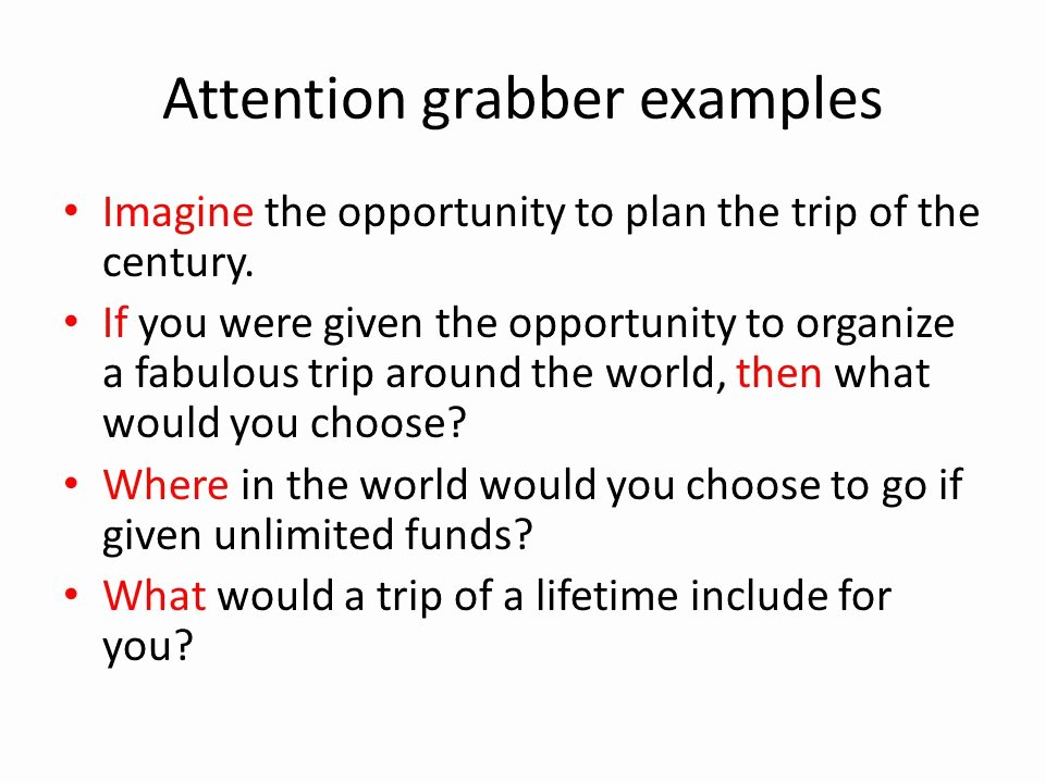 Example Of attention Getter New Travel Essay Ppt Video Online