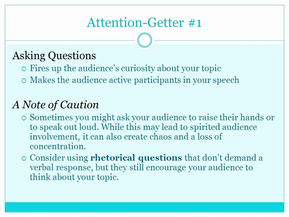Example Of attention Getter Unique Parts Of A Speech the Introduction Ppt Video Online