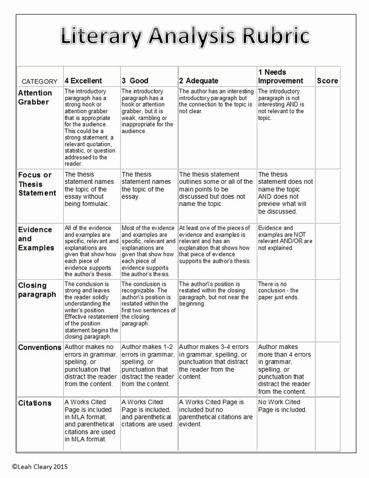 Example Of Book Analysis Awesome Literary Analysis Handouts