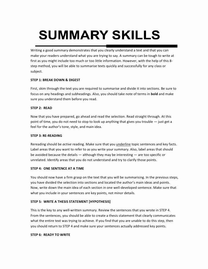 Example Of Book Analysis Best Of Summary Writing Skills