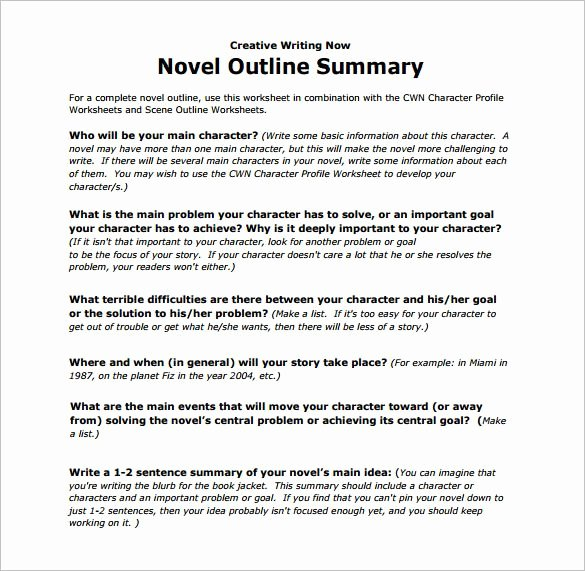 Example Of Book Analysis Unique Novel Outline Summary