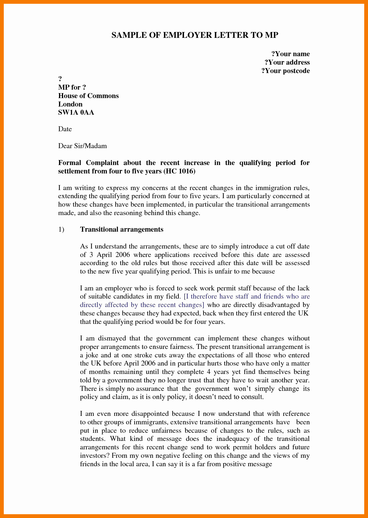 Example Of Grievance Letter New 9 10 Sample Grievance Letter to Employer