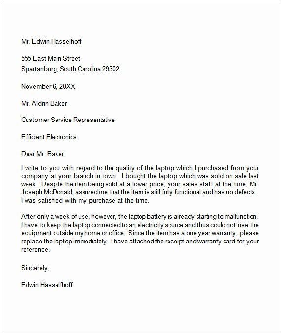 Example Of Grievance Letter Unique Plaint Letter 17 Download Free Documents In Word Pdf