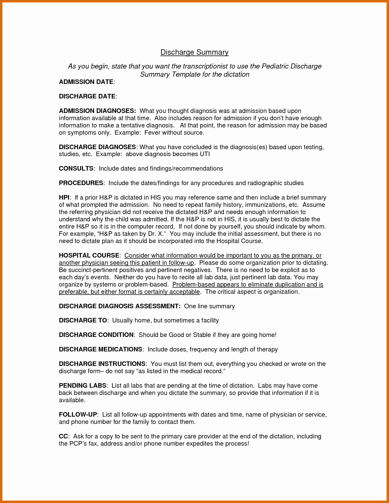 Example Of Hospital Discharge Papers Elegant 5 6 Discharge Summary Example