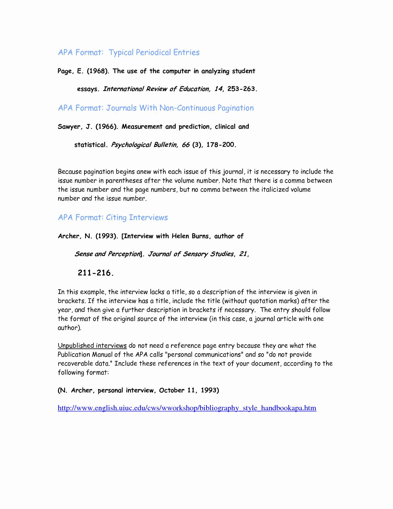 Example Of Interview Essay Paper Elegant Best S Of Interview Paper Apa format Example