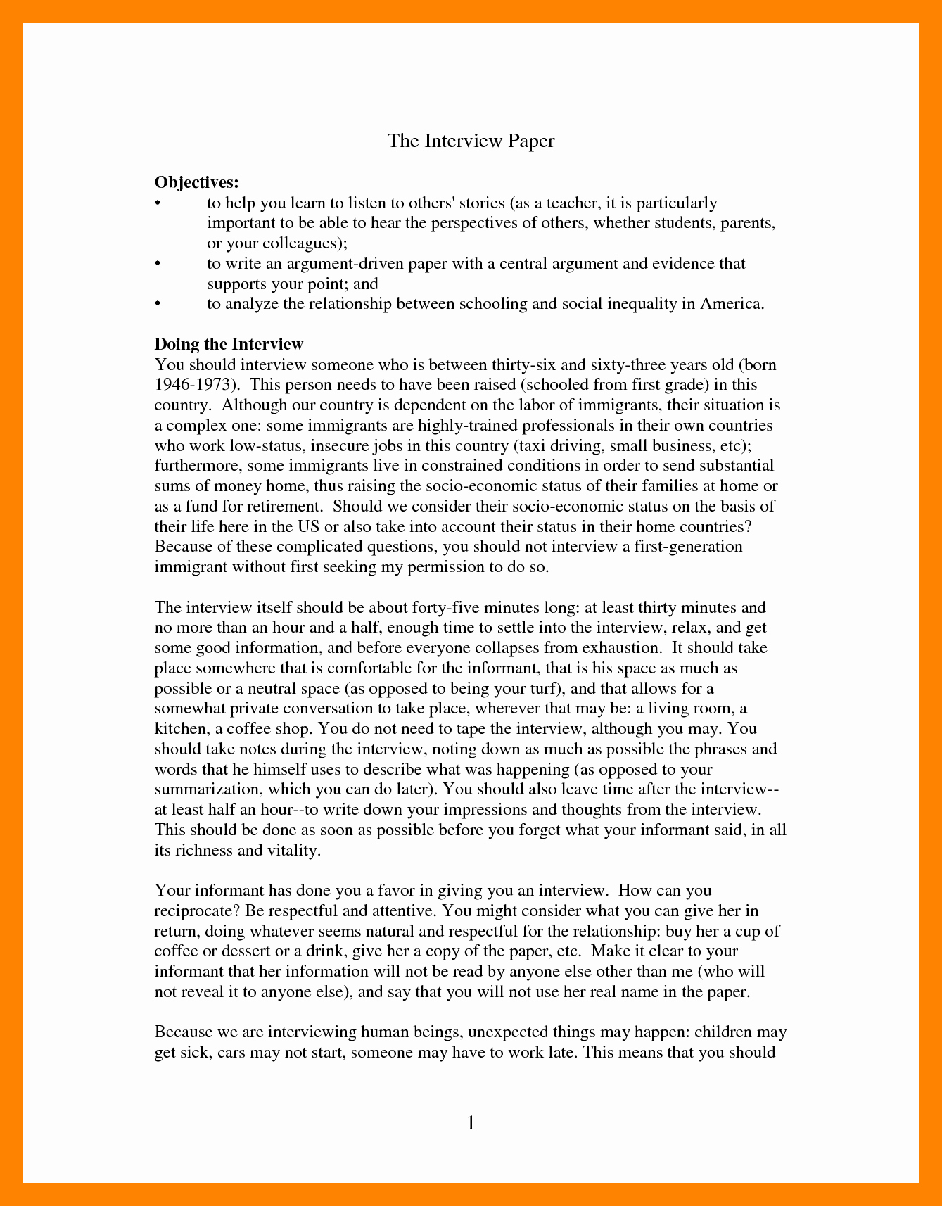 Example Of Interview Essay Paper Luxury 10 Interview Essay format