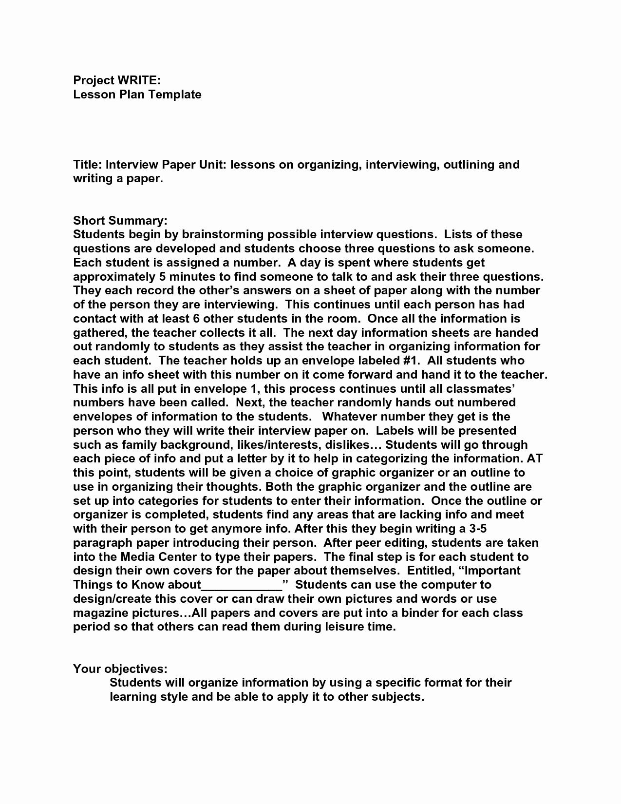 Example Of Interview Essay Paper Luxury Best S Of Examples A Written Interview Example