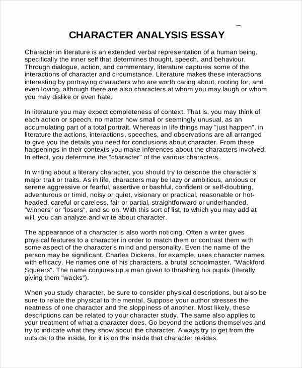 Example Of Personality Profile Essay Elegant 10 Analysis Essay Examples Samples