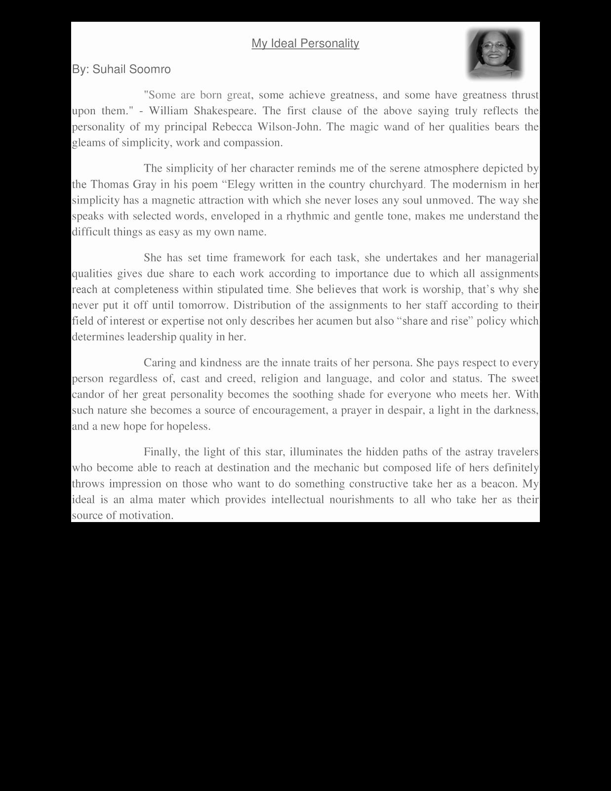 Example Of Personality Profile Essay Inspirational Contoh Essay Bahasa Inggris 3 Paragraf Fontoh
