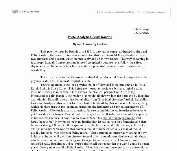 Example Of Poem Analysis Inspirational Resultado De Imagen De Poem Analysis Essay