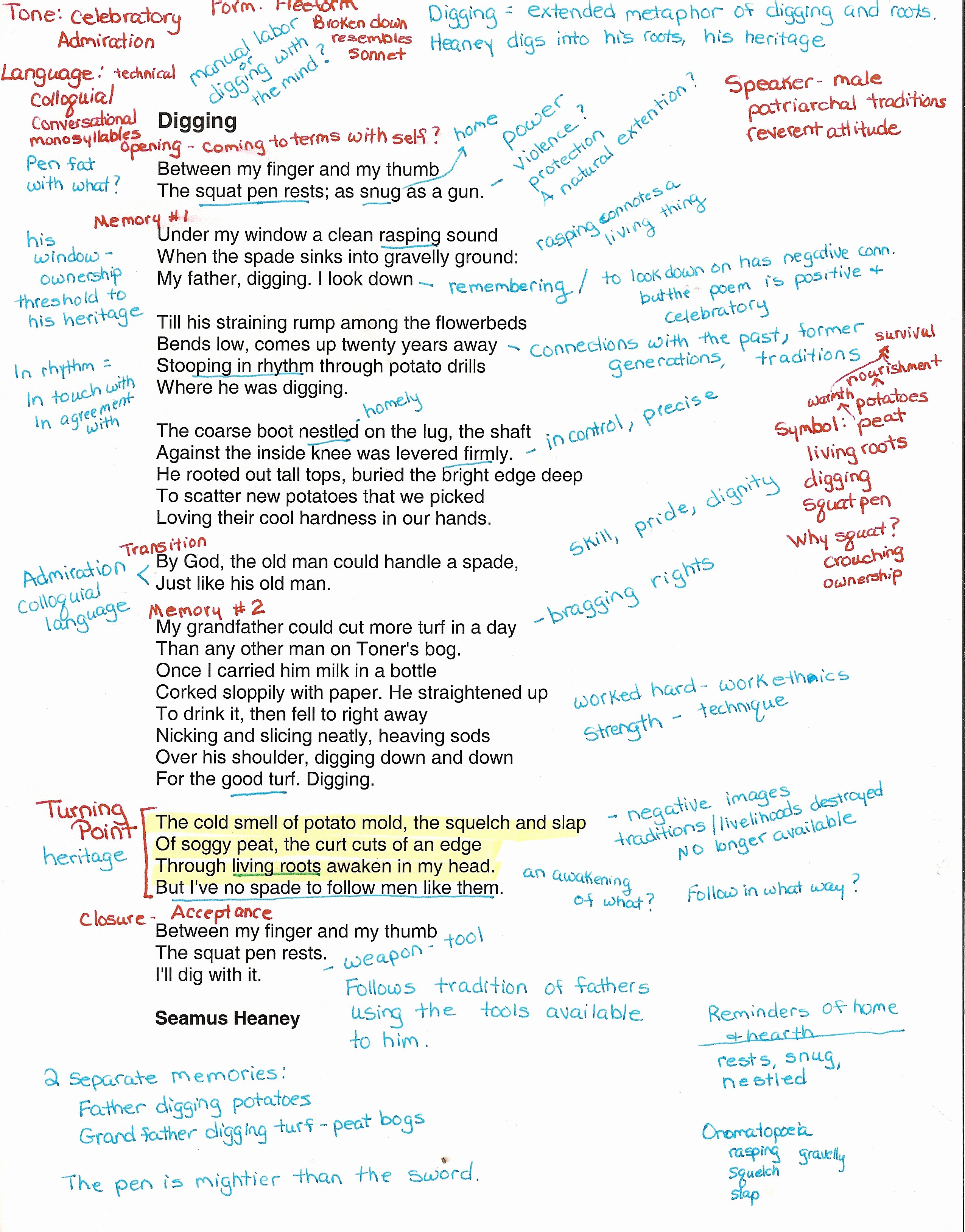 Example Of Poem Analysis New Annotating and Explicating Poetry – Notes From the Field