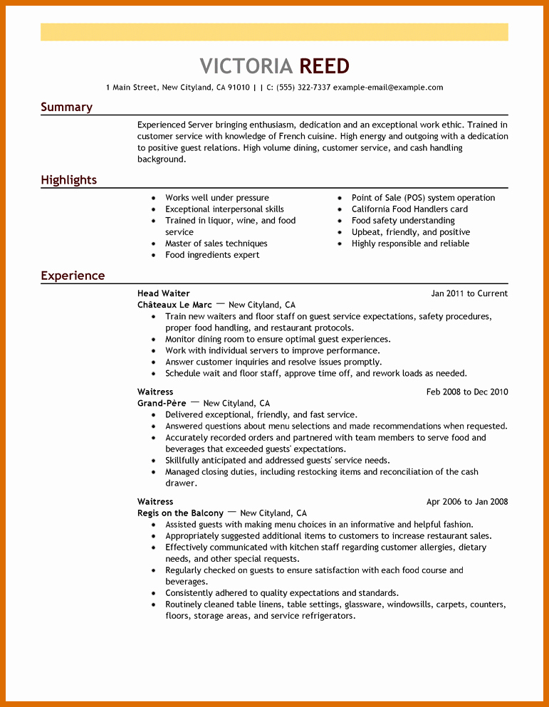 Examples Of Excellent Resumes Best Of 6 7 Excellent Resume Examples