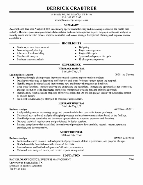 Examples Of Excellent Resumes Best Of Amazing Business Resume Examples to Get You Hired