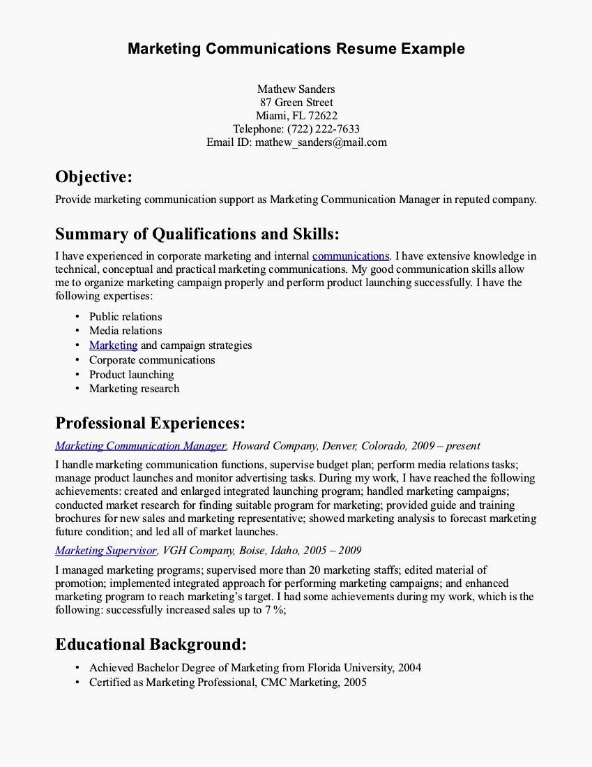 Examples Of Excellent Resumes Inspirational Cover Letter Excellent Verbal and Written Munication