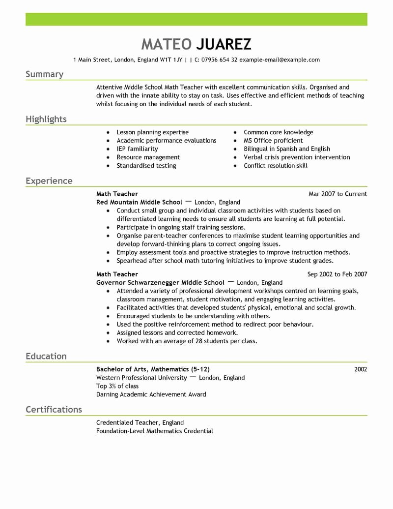 Examples Of Excellent Resumes Lovely 12 Amazing Education Resume Examples