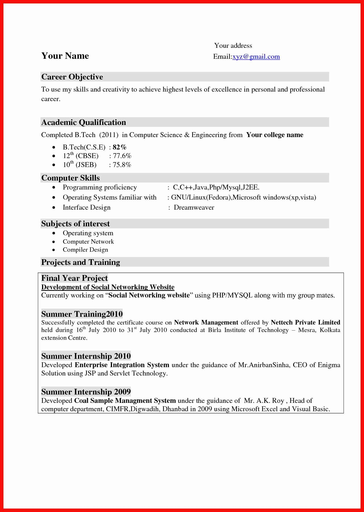 Examples Of Excellent Resumes Luxury Excellent Resume Example