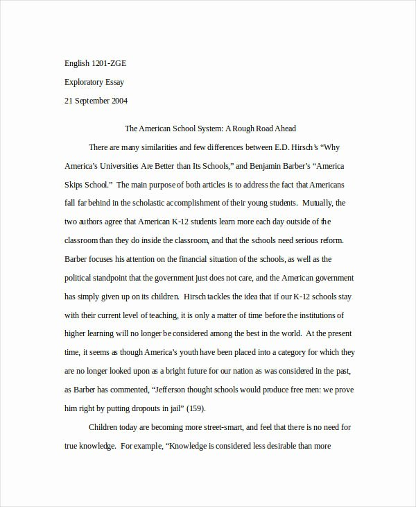 Examples Of Good Essays Luxury 23 Free Essay Examples