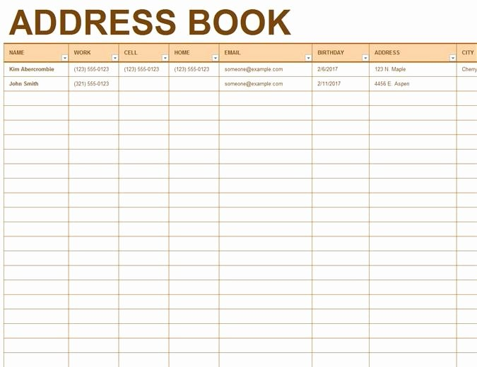 Excel Address Book Template Best Of Template for Phone Directory In Excel