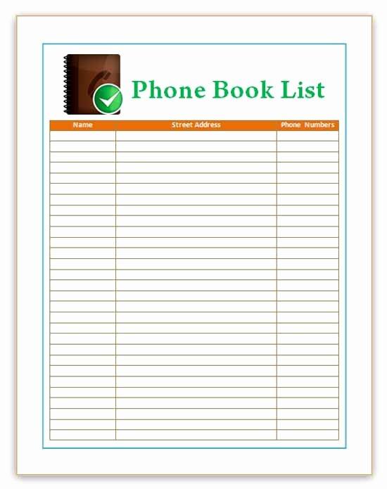 Excel Address Book Template Elegant Microsoft Word Address Book Templates Frompo