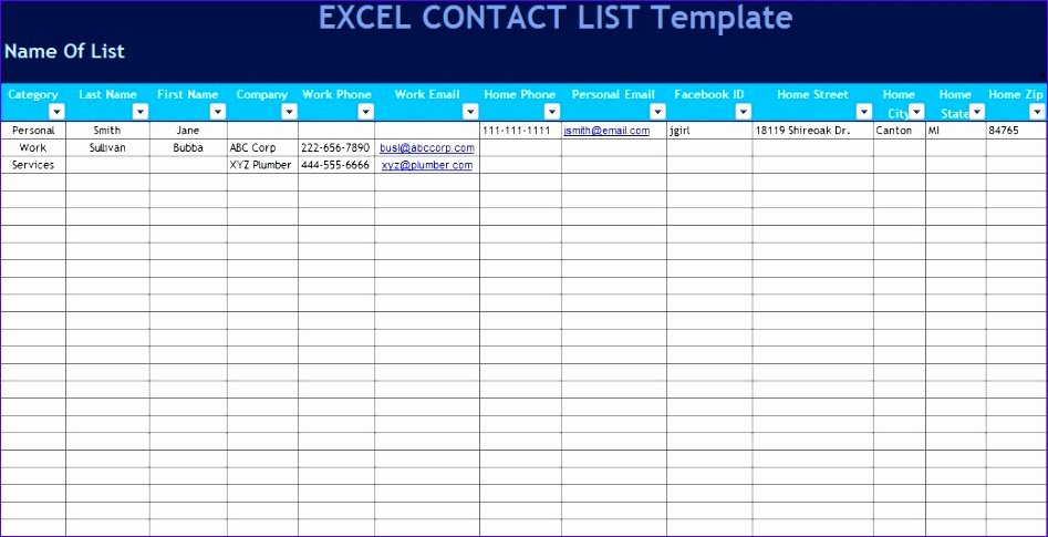 Excel Address Book Template Fresh 10 Excel Address Book Template Exceltemplates
