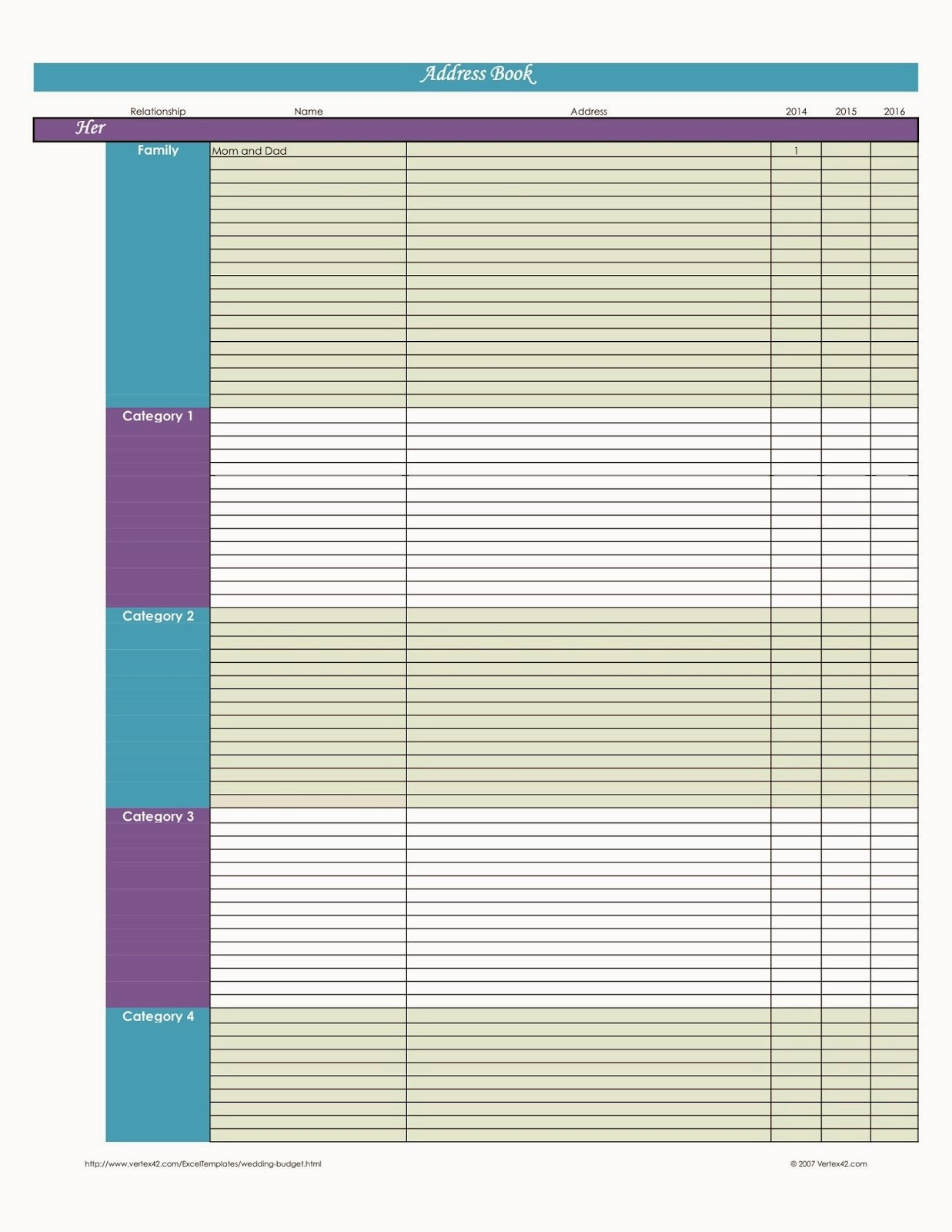 Excel Address Book Template Inspirational Laura S Plans Easy Excel Address Book Template